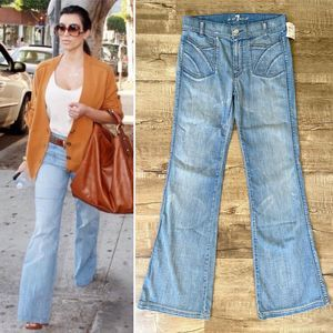 NWT 7 For All Mankind Light Flare Jeans Iceland 27